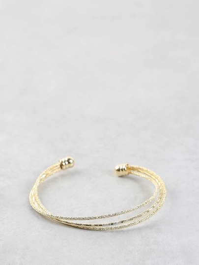 Open Ended Metallic Bracelet GOLD