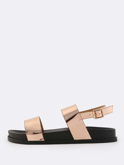 Slingback Duo Strap Sandals ROSE GOLD