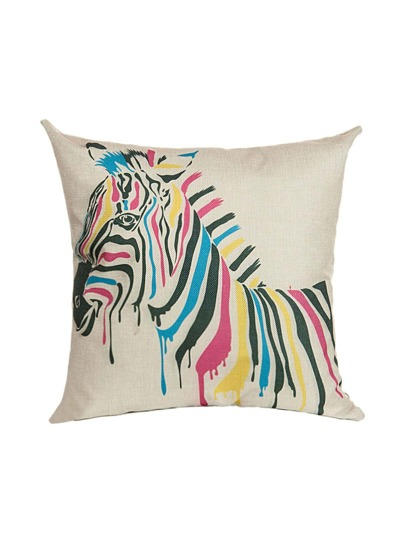 White Zebra Print Pillowcase Cover