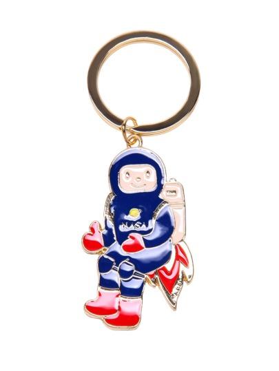سلسلة المفتاح بشكل رجل الفضاء- ذهبية