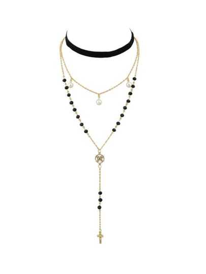 Collier couleur blond style de hip-hop