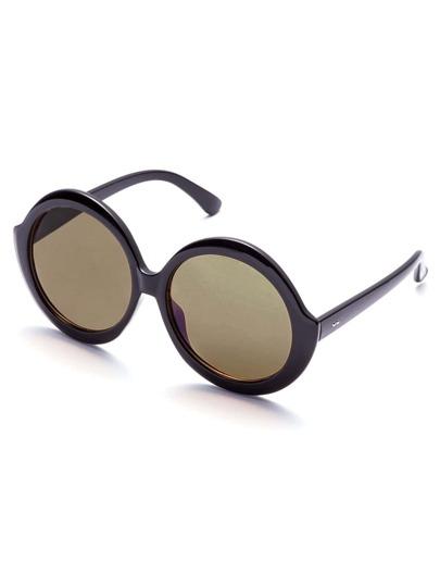Gafas de sol con lentes redondos negro