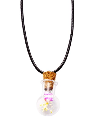 Pink Floral Pendant Necklace