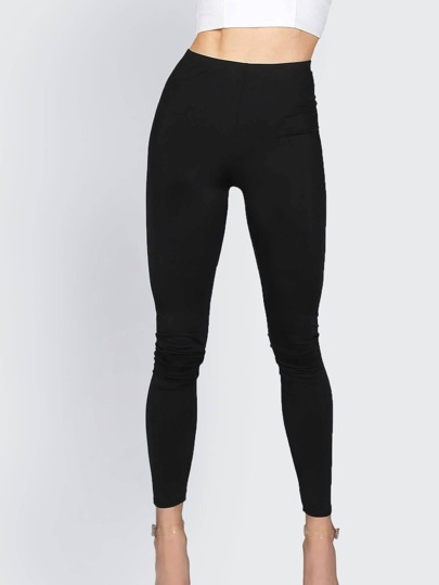 Basic Nylon Leggings BLACK