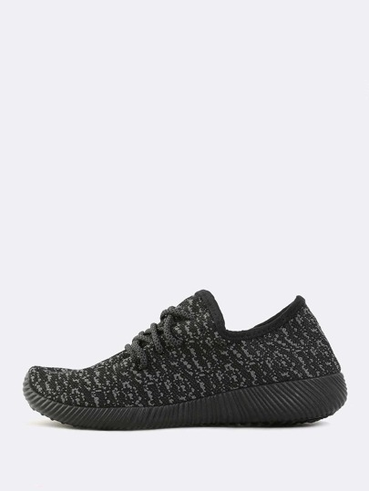 Multiknit Textured Sole Sneakers BLACK