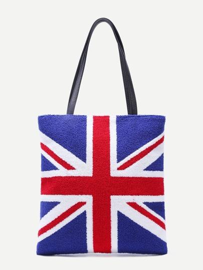 Britische Flaggen-Muster-PU-Einkaufstasche