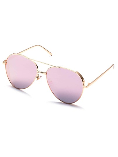 Pink Brow Bar Aviator Sunglasses