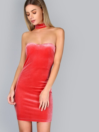 Choker Halter Neck Bodycon Dress