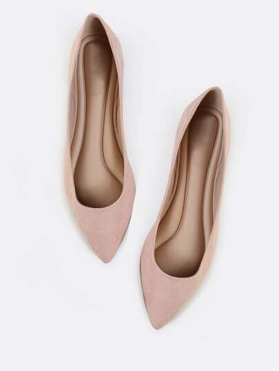 Pointed Toe Pastel Flats BLUSH