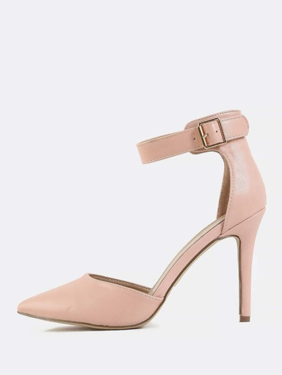 Pastel Pointed Toe Skinny Heels BLUSH