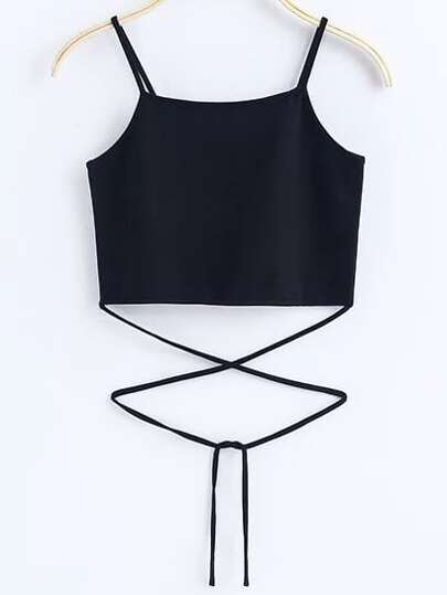 Black Tie Detail Cami Top