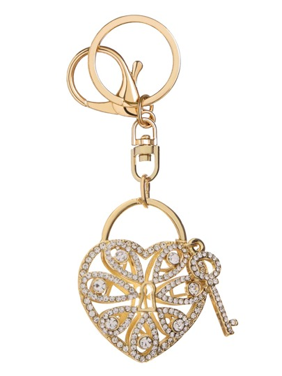 Gold Cutout Key To Heart Keyhole