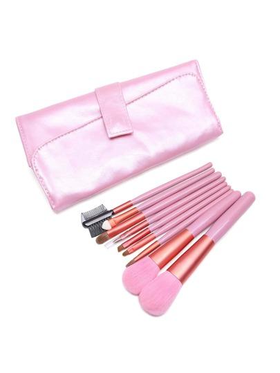 Brosse professionnelle rose avec sac