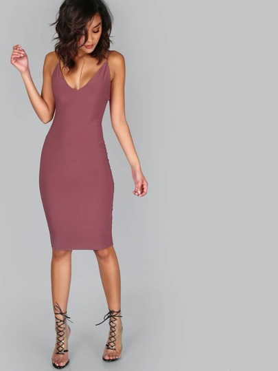 Strappy Midi Dress BRICK