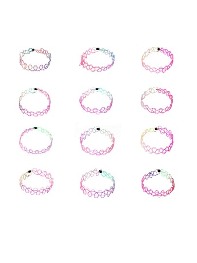 Multicolor Hollow Out Bracelet Set