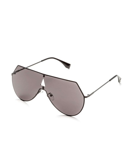 Grey Lens Triangle Cutout Detail Sunglasses