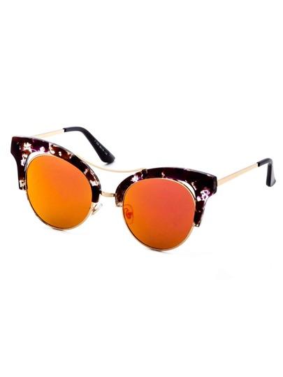 les lunettes à double pont des yeux de chat doré