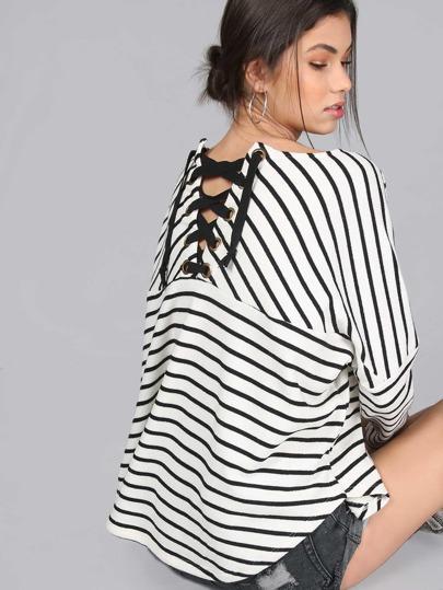 camicia oversize con lacci