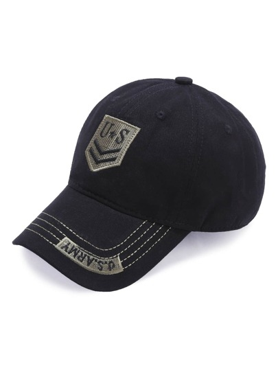Black Letter Embroidery Baseball Cap