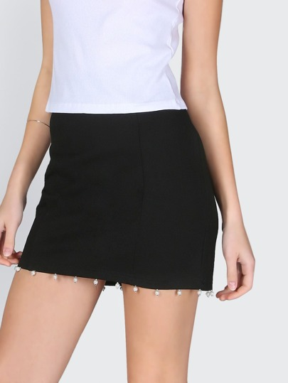 Pearl Pencil Skirt BLACK