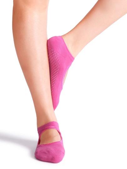 Hot Pink Non Slip Ballet Socks