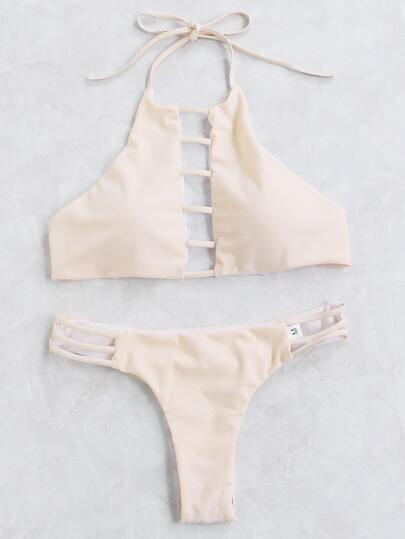 Ladder Cutout Detail Bikini Set