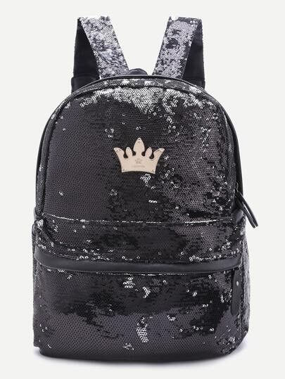 le sac à dos de la couronne sequin par détail