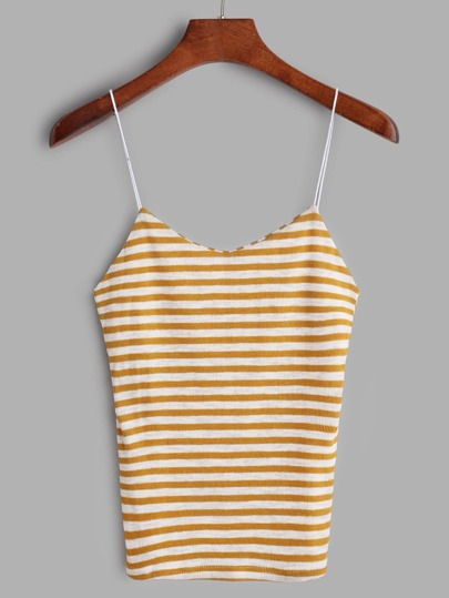 Contrast Striped Knit Cami Top