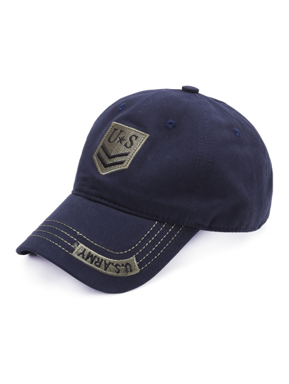 Blue Letter Embroidery Baseball Cap