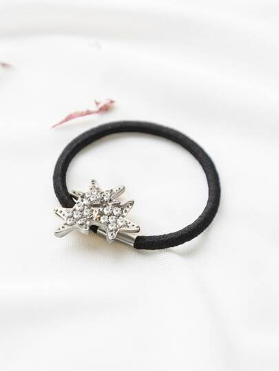 Silver Star Detail Hair Tie