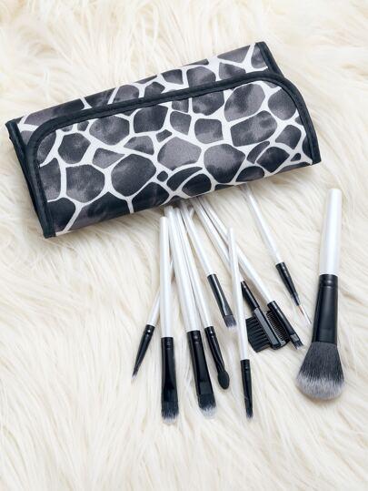 10PCS White Make Up Brushes Set With Bag