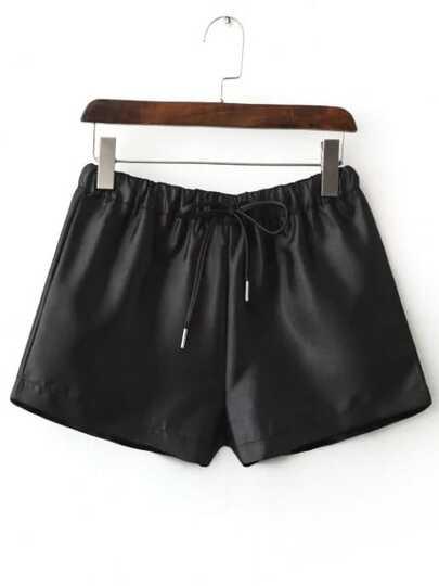 Shorts suelto cintura elástica - negro