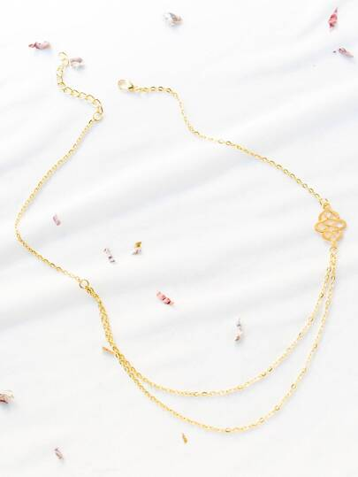 Gold Cutout Fancy Necklace
