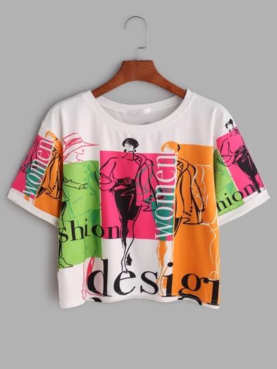 Camiseta de manga corta con estampado