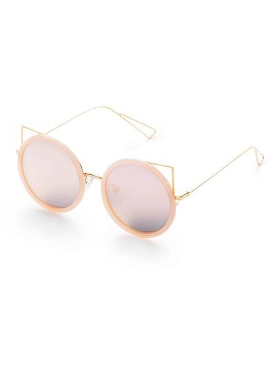 Pink Delicate Round Design Sunglasses