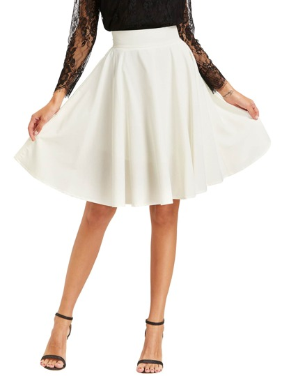 High Waist Pleated Circle Skirt