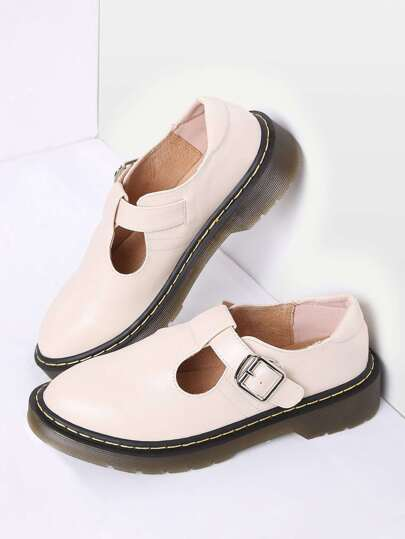 Abricot Mary Jane PU Flats