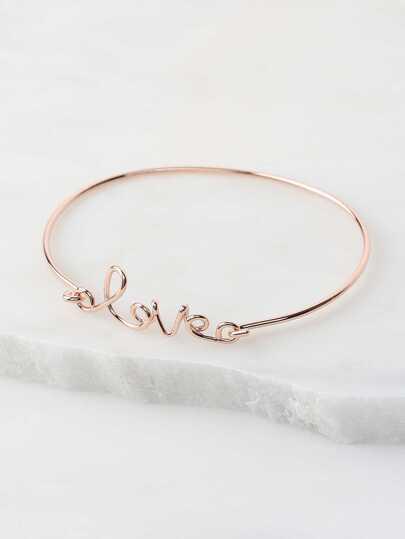 Cursive Metallic Bracelet ROSE GOLD