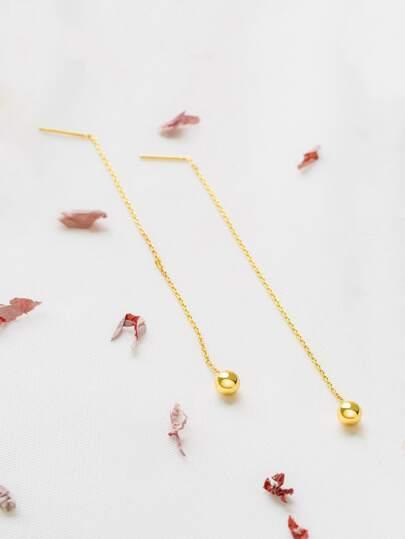 Gold Orb Drop Earring