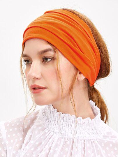 Оранжевая широкая повязка для волос