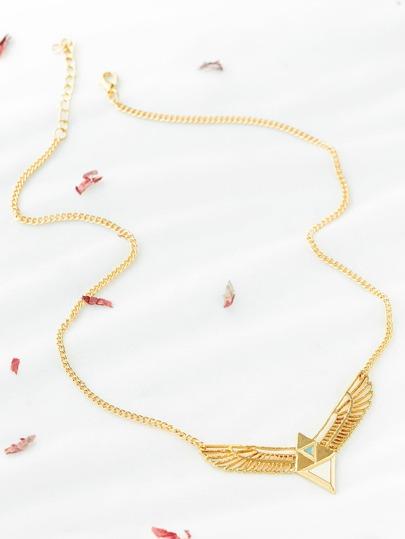 L'oro geometrica e collana del pendente dell'ala