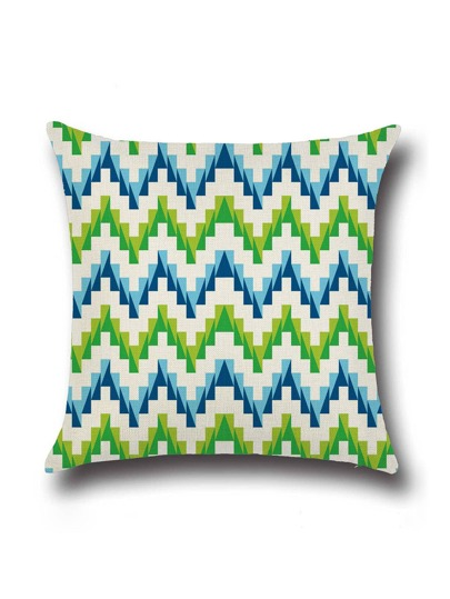 Beige Chevron Pattern Minimalist Linen Cushion Cover