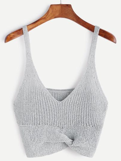 Gris tricot haut licou