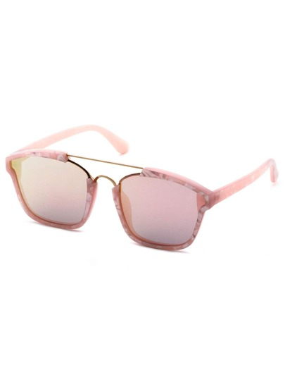 Rose Gold Frame Double Bridge Sunglasses