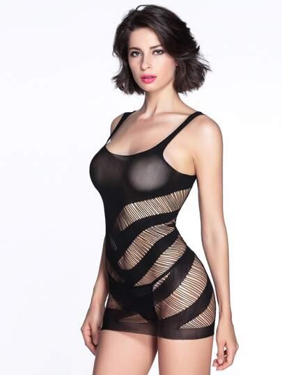 فستان لليلة جنسي نسوي  ياقة التصميم - أسود