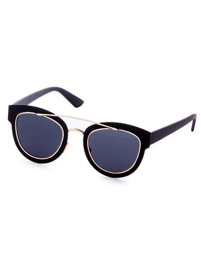 black section double pont lunettes