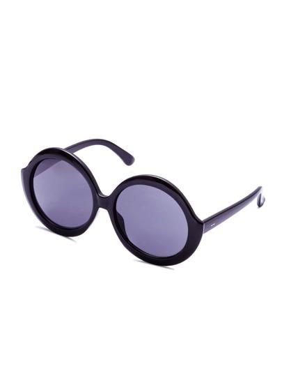 Black Frame Round Lens Sunglasses