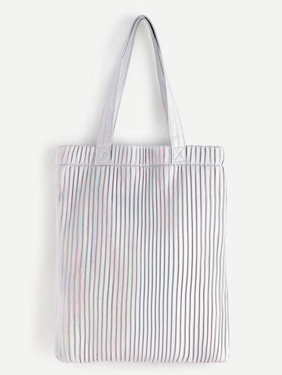 silver striped kaka fourre - tout