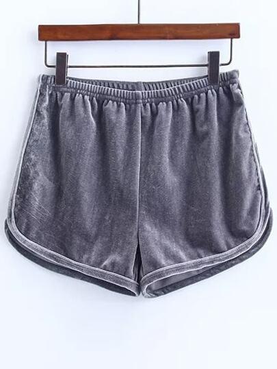 grey elastica pantaloncini di velluto