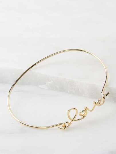 Metallic Love Bracelet GOLD